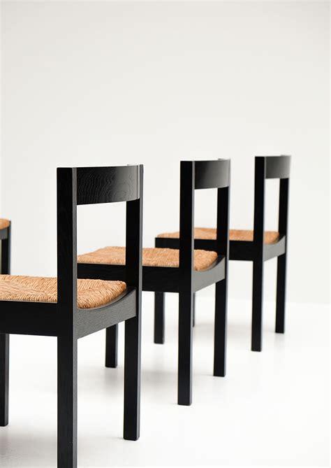 black dining chairs set of 6 vintage black ebonized dining chairs set of 6 for sale at
