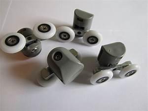 roulette rouleau pour cabine de douche 23mm double 8 With roulette double porte de douche