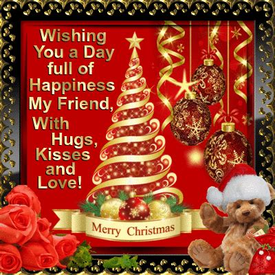This card is best to wish your loved ones to have a blessed holiday season. A Merry Christmas To You My Friend! Free Friends eCards, Greeting Cards | 123 Greetings