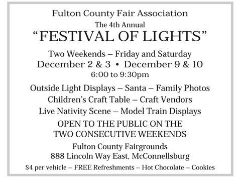 fulton festival lights county december