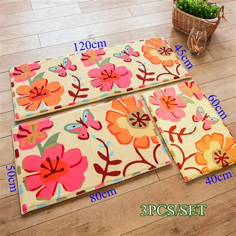 decorative kitchen floor mat 3pcs set soft decorative kitchen floor mats bathroom floor 6499