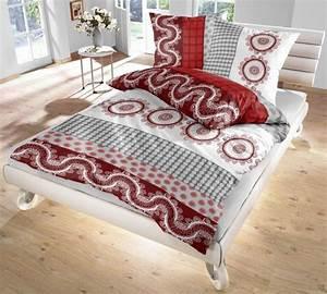 Bettwäsche Rot Weiß : ido renforc bettw sche rot grau wei 135x200 80x80 cm ebay ~ Yasmunasinghe.com Haus und Dekorationen