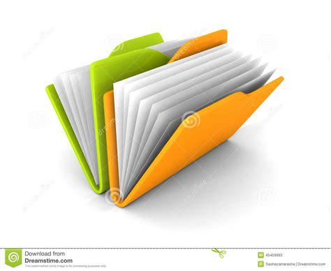 icone sur le bureau icône colorée de dossiers de papier de bureau sur le fond
