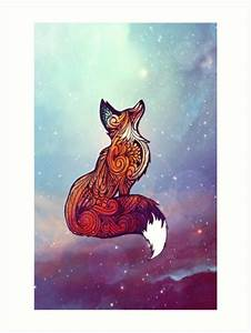 """""""Space Fox"""" Art Prints by Danielle Madrigal Redbubble"""