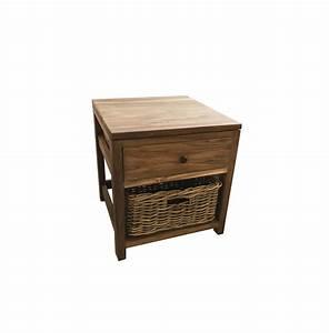 Rustic Bedside Table 100% reclaimed teak Ombak Furniture