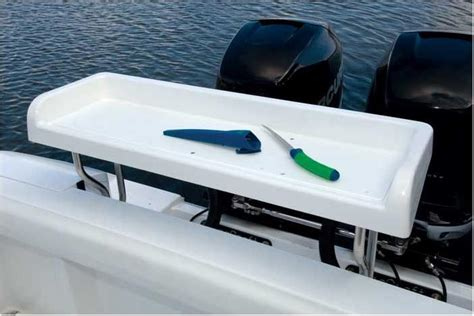 Boat Cooler Mount by Fiberglass Bait Cutting Table Transom Mount Saw On