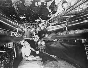 WW2 US Navy Submarine Inside
