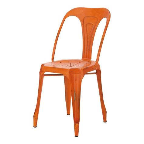 chaise indus chaise indus orange multipl 39 s maisons du monde