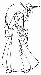 Coloring Nun 604px 43kb sketch template