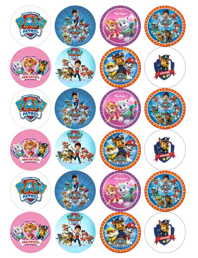 paw patrol edible cupcake toppers viparty