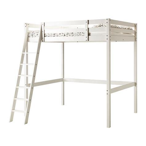 stor 197 loft bed frame white stain ikea