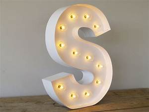 hollywood letter s with in pure white with by carnivalletters With hollywood letter lights