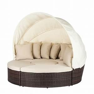 Sonneninsel Rattan Braun : sonneninsel 4 teile polyrattan braun beige strandkorb rattan sonnenliege garten ebay ~ Indierocktalk.com Haus und Dekorationen