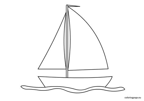 sailing boat coloring page coloring page
