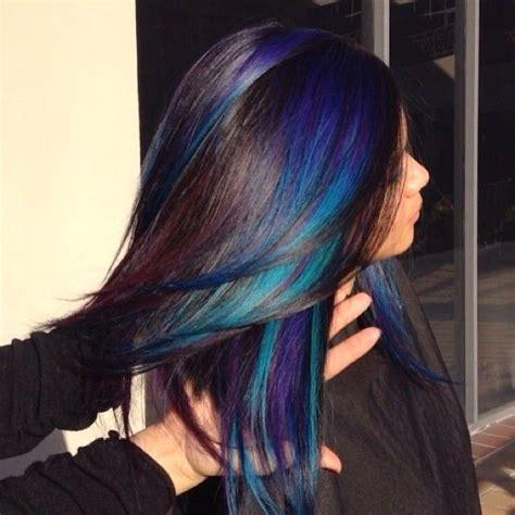 hair color streaks black with violet streaks hair colors ideas