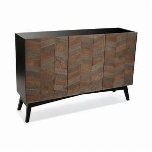 Buffet Bois Noir : meuble buffet etroit 3 portes bois noir versa 21080058 ~ Teatrodelosmanantiales.com Idées de Décoration