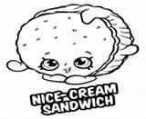 Coloring Pages Sandwich Shopkins Cream Printable Nice Gum Bobby Bubble Season sketch template