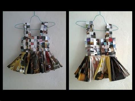 video tutorial diy hacer un vestido tutu de papel revista con detalle de flor paso a paso