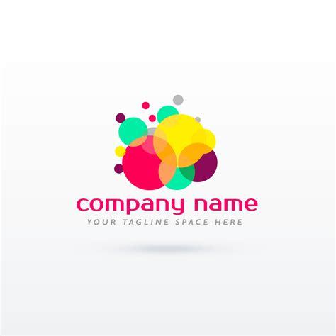 Abstract Circle Colorful Logo Concept Design