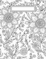 Coloring Adult Binder Covers Printable sketch template
