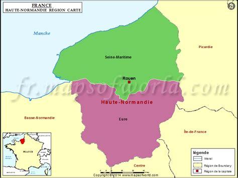 Carte Haute Normandie by Carte De La R 233 Gion Haute Normandie D 233 Partements Les