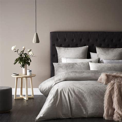 Mercer + Reid  Luxe Velvet Quilt Cover Stone Bedroom