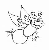 Firefly Coloring Lightning Bug Pages Clipart Glow Fireflies Printable Print Worm Outline Drawing Sheets Colouring Printables Lightening Draw Bugs Pagefull sketch template