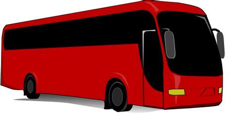 red  bus clip art  clkercom vector clip art