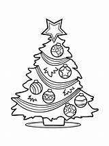 Coloring Tree Printable Holiday Recommended sketch template