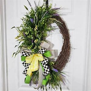 Spring, Grapevine, Wreath, Greenery, Wreath, Oval, Wreath, With
