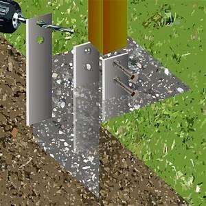 Poteau A Linge En Beton : fixer des poteaux bois au sol ~ Dailycaller-alerts.com Idées de Décoration