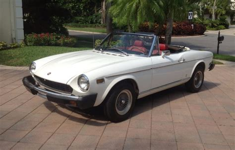 fiat spider white 1976 fiat 124 spider for sale on bat auctions closed on