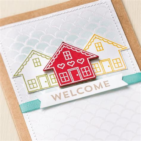 Welcome To The New Home Designing by Great Clean New Home Card Using Two Free Sab Products You