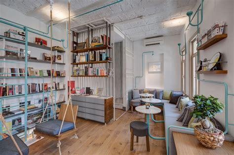 Feasibility studies for bookstore and coffee shop. FiL Books: Book Store & Coffee Shop in Istanbul   Design