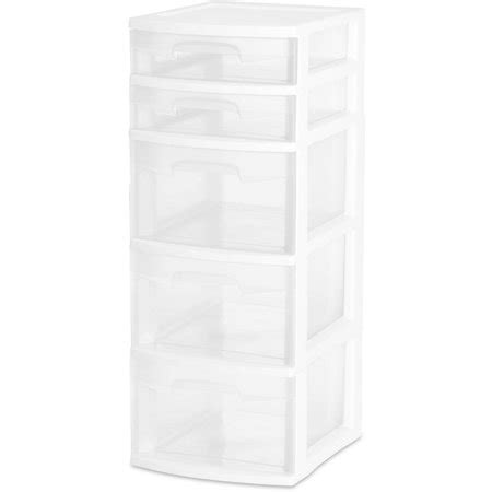 sterilite 5 drawer wide tower white sterilite 5 drawer tower white available in of 2 or