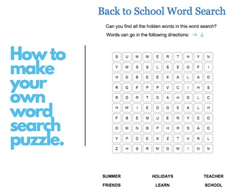 Create Your Own Custom Word Search