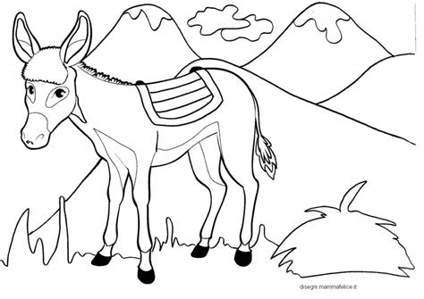 immagini da colorare per bambini disegni per bambini da colorare l asinello e le montagne