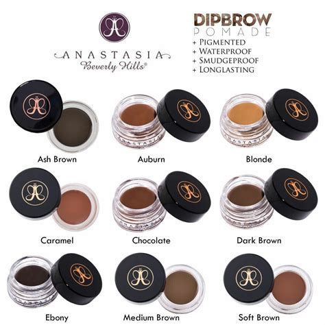 If you are brunette you probably know the pain is real when it comes to finding the right tone of brown to shade in eyebrows. Brand New Anastasia Beverly Hills DIPBROW Pomade Ebony ...