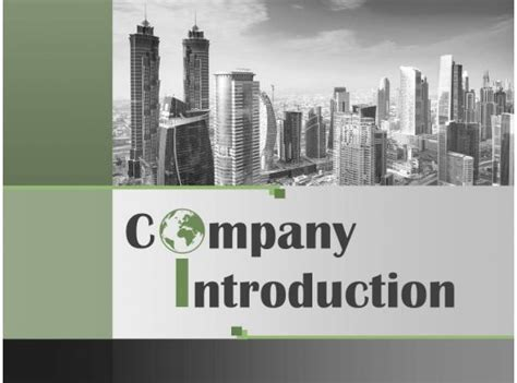 company introduction profile powerpoint