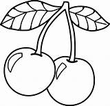 Cherry Coloring Pages Sheets Fruits Christmas Medium sketch template
