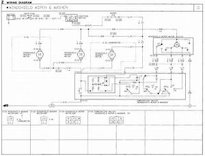 1991 Mazda B2600i Wiring Diagram  Windshield Wiper Motor
