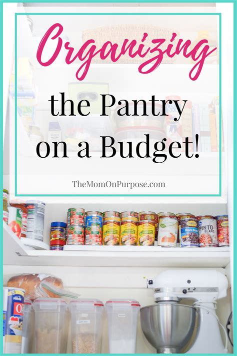 kitchen organization ideas budget organizing the pantry on a budget the simply organized home 5436