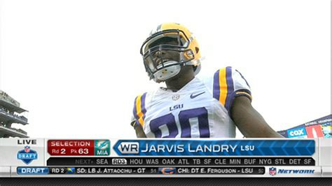 miami dolphins select jarvis landry   nfl