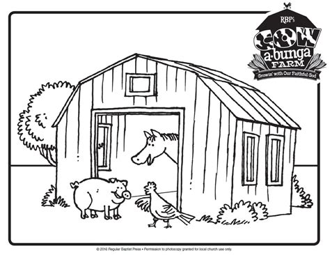Successful Red Barn Coloring Page Free Printab #5820