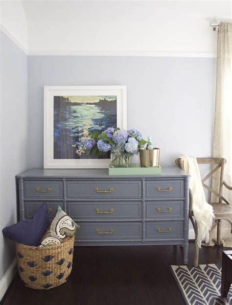 dresser painted with the color wolf gray by benjamin moore