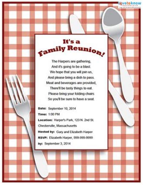 Printable Family Reunion Invitations