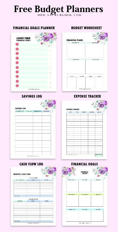 budget template binder   financial worksheets
