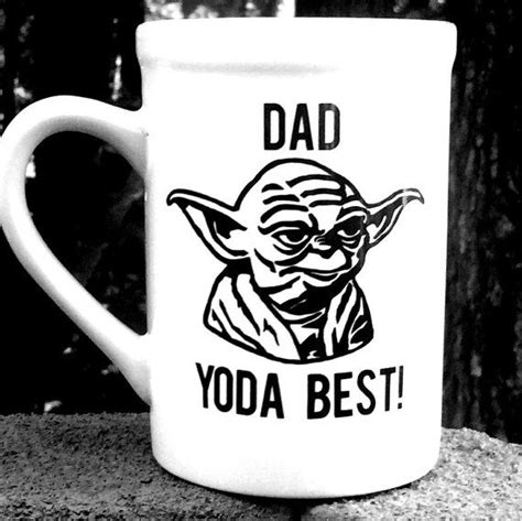 Keep a set of quality everyday mugs on hand. Star Wars Yoda Coffee Mug, Dad Yoda Best   Star wars mugs, Mugs, Personalized coffee cup