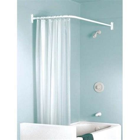 the l shaped curtain rod for well designed bathroom