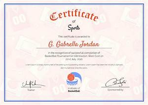 Sport Certificate Templates Printable Sample Simple Sports Certificate